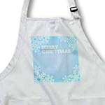 click on Clear Sky Blue Merry Christmas Snowflakes- Holiday Art to enlarge!