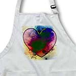 click on Painted Heart Abstract- Love- Art to enlarge!