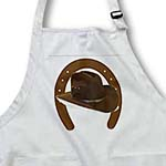click on Large Brown Horseshoe With Brown Cowboy Hat to enlarge!