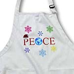 click on World Peace On Earth Christmas Santa Hat and Snowflakes- Inspirational Art to enlarge!