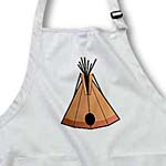 click on Tan and Black Tepee to enlarge!