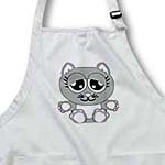 click on Adorable Gray Kitty On Gray and White Polka Dots to enlarge!