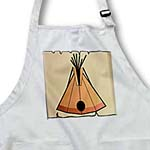click on Tan Orange Tepee On Tan Parchment to enlarge!