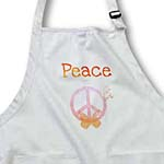 click on Peach Pink Stardust Peace Sign and Butterflies- Inspirational Art to enlarge!
