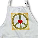 click on Vintage Green Peace Sign with Heart- Inspirational Art to enlarge!