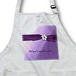 click on Flower on Ribbon, Purple, Bridesmaid Request to enlarge!