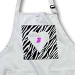 click on White Heart On Zebra With Pink Letter B to enlarge!