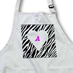 click on White Heart On Zebra With Pink letter A to enlarge!
