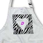 click on White Heart On Zebra With Letter D to enlarge!