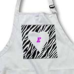 click on White Heart With Letter E On Zebra to enlarge!