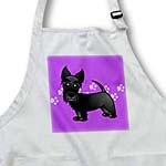 click on Cute Black Scottie - Cartoon Dog - Purple with Pawprints to enlarge!