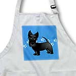 click on Cute Black Scottie - Cartoon Dog - Blue with Pawprints to enlarge!