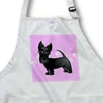 click on Cute Black Scottie - Cartoon Dog - Pink with Pawprints to enlarge!