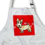 click on Cute Wheaten Scottie - Cartoon Dog - Red with Pawprints to enlarge!