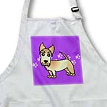 click on Cute Wheaten Scottie - Cartoon Dog - Purple with Pawprints to enlarge!