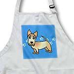 click on Cute Wheaten Scottie - Cartoon Dog - Blue with Pawprints to enlarge!