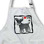 click on I Love My Miniature Schnauzer Dog - Banded Coat (Salt and Pepper) - Red Heart to enlarge!