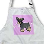 click on Miniature Schnauzer Banded Brown Base Coat (Salt and Pepper) - Cartoon Dog - Pink with Pawprints to enlarge!