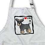 click on I Love My Miniature Schnauzer Dog - Banded Brown Base Coat (Salt and Pepper) - Red Heart to enlarge!