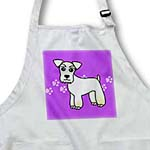 click on Cute Miniature Schnauzer Wheaten Coat - Cartoon Dog - Purple with Pawprints to enlarge!