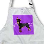 click on Cute Doberman Pinscher Black Coat - Cartoon Dog - Purple with Pawprints to enlarge!