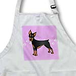 click on Cute Doberman Pinscher Black Coat - Cartoon Dog - Pink with Pawprints to enlarge!