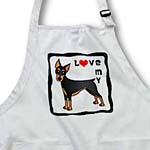 click on I Love My Doberman Pinscher Dog - Black - Red Heart to enlarge!