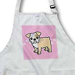 click on Cute Bulldog Fawn and White Coat - Cartoon Dog - Pink with Pawprints to enlarge!