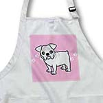 click on Cute Bulldog White Coat - Cartoon Dog - Pink with Pawprints to enlarge!