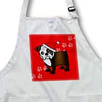 click on Cute Bulldog Dark Brindle and White Coat - Cartoon Dog - Red with Santa Hat to enlarge!