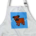click on Cute Bulldog Red Coat with Black Mask - Cartoon Dog - Blue with Pawprints to enlarge!
