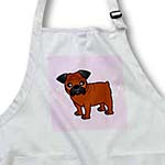 click on Cute Bulldog Red Coat with Black Mask - Cartoon Dog - Pink with Pawprints to enlarge!