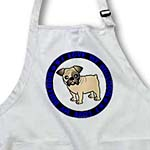 click on I Love My Bulldog - Fawn Coat with Black Markings - Blue to enlarge!