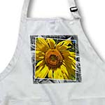 click on Yellow Autumn Sunflower with Black and White Frame- Flowers to enlarge!