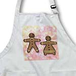click on Gingerbread Man and Woman Cookies Friends Love- Hearts- Art to enlarge!