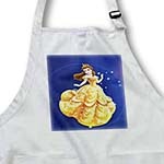 click on Fairy Princess In Yellow Dress On Blue With Stars to enlarge!