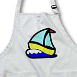 click on Cute Turquoise Yellow n Blue Sailboat to enlarge!