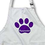 click on Purple Pomeranian Paw- Pets- Dog Art to enlarge!