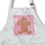 click on Abstract Pink Gingerbread Man Cookie- Art to enlarge!