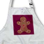 click on Deep Red Gingerbread Man Cookie- Art to enlarge!