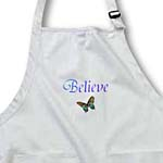 click on Believe Aqua Butterfly- Inspirational Words- Motivational to enlarge!