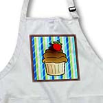 click on Cute Chocolate Cupcake with Strawberry - Kawaii Cakes - Blue Stripe to enlarge!