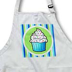 click on Cute Cupcake White Frosting with Sprinkles - Kawaii Cakes - Blue to enlarge!