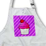 click on Cute Cupcake with Cherry Topper - Kawaii Cakes - Purple Stripe to enlarge!