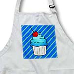 click on Cute Cupcake with Cherry Topper - Kawaii Cakes - Blue Stripe to enlarge!