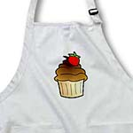 click on Yummy Chocolate Cupcake Cartoon with Strawberry to enlarge!