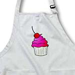 click on Yummy Pink Cupcake Cartoon with Cherry to enlarge!
