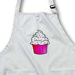 click on Yummy Pink Cupcake Cartoon White Frosting with Sprinkles to enlarge!