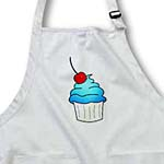 click on Yummy Blue Cupcake Cartoon with Cherry to enlarge!