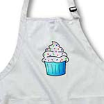 click on Yummy Blue Cupcake Cartoon White Frosting with Sprinkles to enlarge!